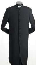 Black Full Length Clerical Suit
