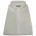Men's Long-Sleeve Tab Collar Clergy Shirt in White