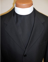 Clergy Shirt Front (Appears As Actual Shirt Under Suit)