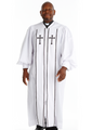 924 P. Men's & Women's Clergy Robe - White/Black