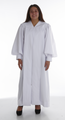 902. Men's & Women's Clergy Robe - Solid White