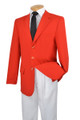 Men's Red 3-Button Blazer