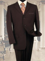 Men's Italian-Style Single-Breasted Suit - Brown *BOGO FREE Sale*