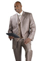 Brown/Tan Houndstooth Suit - with Matching Reversible Vest