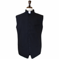 Men's Classic Clergy Vest - Black/Black