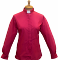 Ladies Clergy Shirts (Tab-Collar) in Fuchsia Pink