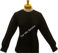 Ladies Long-Sleeve Banded/Full Collar Clergy Shirt