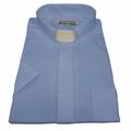 Men's Short-Sleeve Tab Collar Clergy Shirt - Light Blue Men's Clergy Shirts