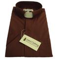 173. Men's Short-Sleeve Tab-Collar Clergy Shirt - Brown
