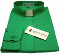 Women's Emerald Green Long-Sleeve Tab Collar Clergy Shirt