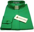 Women's Emerald Green Long-Sleeve Tab Collar Clergy Shirt