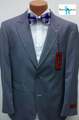 Steve Harvey 2-Button Traditional Pinstripe Suit - Gray