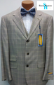 Steve Harvey 3-Button Vested Plaid Suit - Taupe/Beige