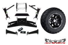 "22"" STI HD3 Machined Tire/Wheel & Club Car DS 6"" A-Arm Combo"