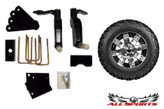 "EZ-Go New Style Drop Axle Lift w/ 12"" Buckshot on 23"" Backlash"