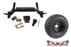 "EZ-Go New Style Drop Axle Lift  w/ 10"" MOD on 22"" STI ATX Trail"