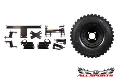 "8"" Black Steel Wheel on 18"" Duro Power Trail & Yamaha 4"" G1 Lift Combo"