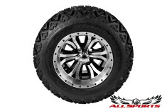 """Backlash X with 12"""" Machined Black Accents Optimus Wheel (Set)"""