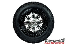 "14"" Mega Star Rims on 23"" Backlash Tires - Black"