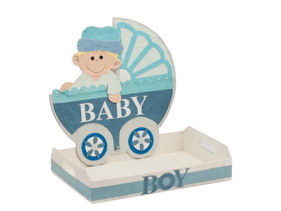 Boy baby shower carriage centerpiece favorvillage