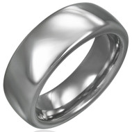 Classic 8.0mm Solid Tungsten Carbide Wedding Ring