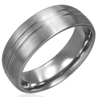 Tungsten Carbide Satin Finished 8.0mm Band Ring