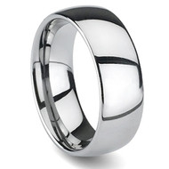 Domed Comfort-Fit Tungsten Carbide Ring