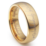 The Lord of the Ring Gold Tungsten One Ring to Rule Them All