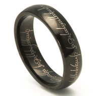 The Lord of the Ring Black Tungsten One Ring to Rule Them All