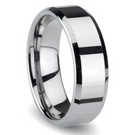 Beveled Edge Tungsten Carbide Ring