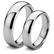 Matching 6.0mm Classic Tungsten Couples Rings