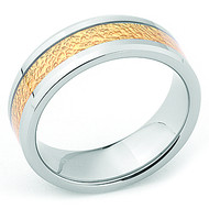 Gold Nugget Inlay 8.0mm Tungsten Band