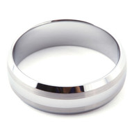 Double Satin Band 8.0mm Tungsten Ring