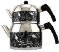 MIMAR SINAN Sehrazat Stainless Steel Tea Pot Set (Black) CELIK CAYDANLIK
