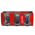 TEA GLASS (INCE BELLI) W/EVIL EYE  6 PCS