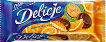 Delicje Orange Biscuits 147g kraft Poland