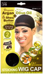 M&M HeadGear Qfitt Argan, Olive Oil, Shea Butter Treated Stocking Wig Cap #800