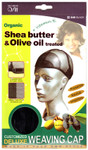 M&M HeadGear Qfitt Olive Oil, Shea Butter Treated Customized Deluxe Weaving Cap #840