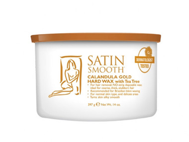 Satin Smooth Calendula Gold Hard Wax for Thick and Coarse Hair