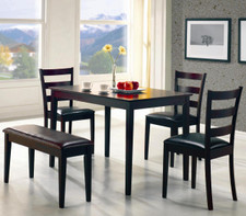 Belva Deep Cappuccino 5-PC Dining Set
