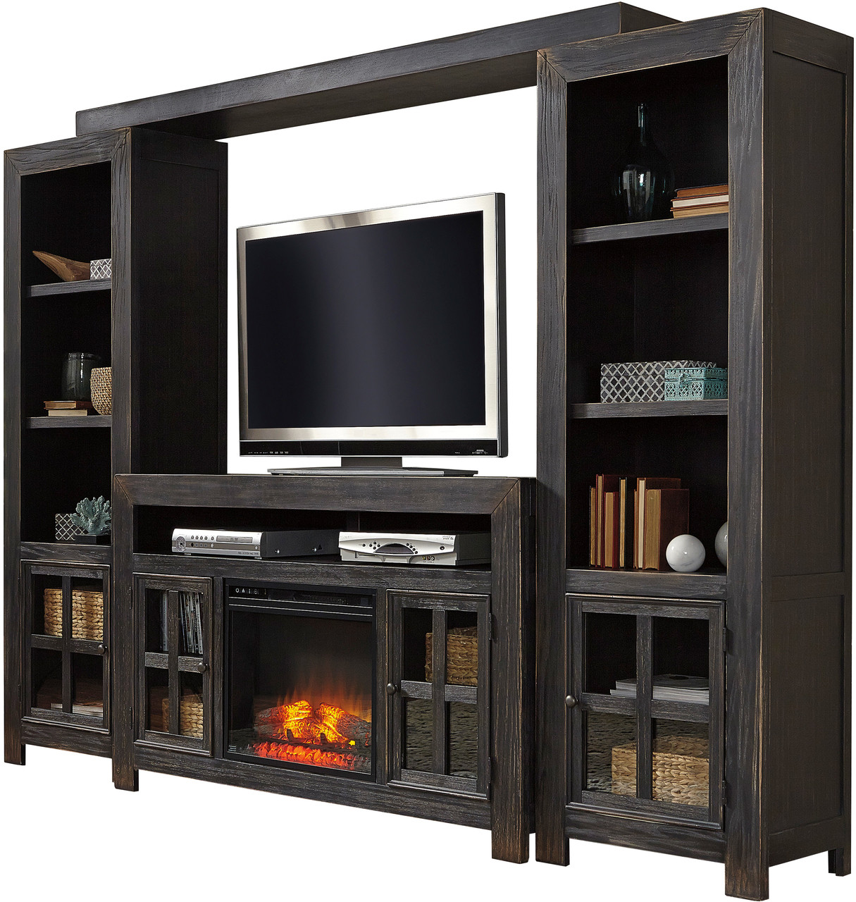 Corpus 5 Piece Wall Unit With Fireplace Cb Furniture