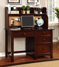Abott Cherry Desk & Hutch W/Built In Corkboard