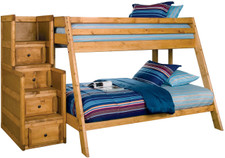 Chuck Twin Over Full Bunkbed With Stairway Chest