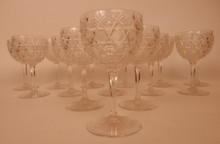 14 Russian Cut wine glasses