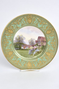 A Fine Antique English Porcelain Hand Painted Cabinet Plate