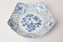 Meissen Reticulated Blue Onion Bowl