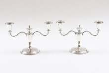 Pair Cartier Sterling Candelabra, 2 Arm. Wonderful Craftsmanship