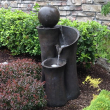 "35"" Floating Sphere Waterslide Fountain"