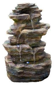 "16"" Castle Ledgestone Rock Fountain w/LED Lights"