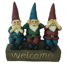 "No Evil - 11"" Welcome Garden Gnomes"